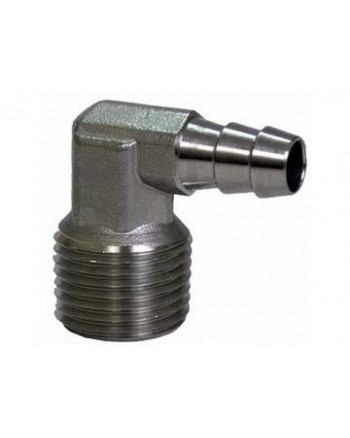 Stainless Steel 1/2'' NPT Male 3/8'' Elbow Barb