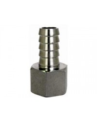 Stainless Steel 1/2'' NPT Female 1/2'' Barb