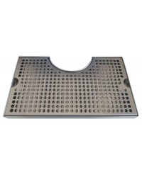 "DRIP TRAY WITHOUT DRAIN 7""X12"" SS CUT OUT SURFACE MOUNT"