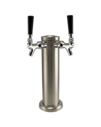 Stainless Steel Draft Beer Tower Double Tap