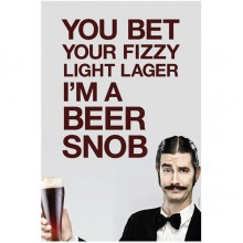"Beer Snob Wall Poster 20"" x 30"""