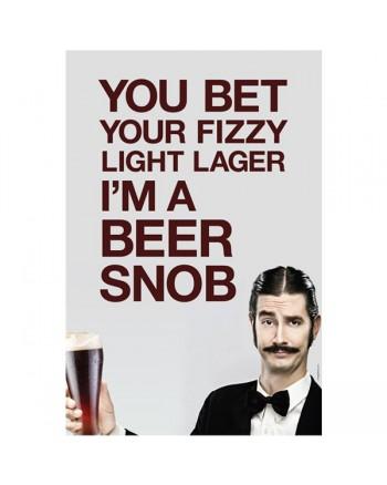 "Beer Snob Wall Poster 20"" x 30"""