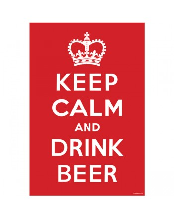 "Keep Calm & Drink Beer Wall Poster 20"" x 30"""