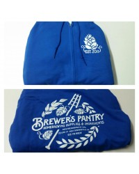 Brewer's Pantry Zip-Up Hoodie (Blue)