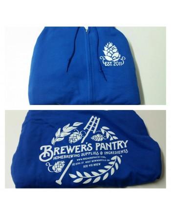Brewer's Pantry Zip-Up Hoodie (Blue)