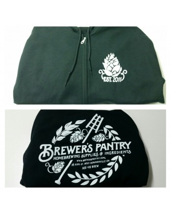 Brewer's Pantry Zip-Up Hoodie (Black)