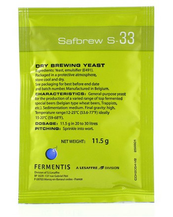 Safbrew S-33 Robust Ale Yeast