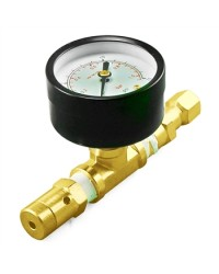 Adjustable Pressure Relief Spundling Valve with Gauge