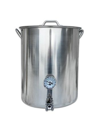 16 Gallon Stainless Steel Welded Graduated Brew Kettle