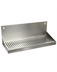 "DRIP TRAY WITHOUT DRAIN 6"" X 16"" SS WALL MOUNT"