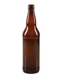 650 mL Glass Bottle (Amber) - case of 12 ***SHIP AT OWN RISK***