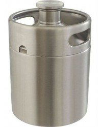 "Stainless Steel ""Mini-Keg"" Growler (64 oz)"