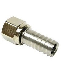 "Stainless Steel Swivel Nut - 1/4"" FFL x 3/8"" Barb"
