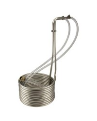 "Sand Viper Stainless Steel Immersion Wort Chiller - 50' x 3/8"" with Vinyl Tubing"